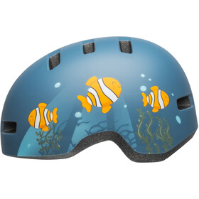 Bell Lil Ripper Kypärä Lapset, matte gray/blue fish